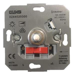 Jung Drehdimmer für Glühlampe 60-400W Hochvolt-Halogen