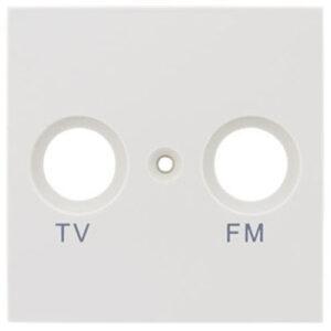 REV Matrix Abdeckung für Antennendose , weiß matt