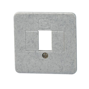 Kopp Europa Abdeckung für TAE-Telefon-Anschlussdose , granit grau