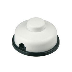 Düwi REV Fußtretschalter Ausschalter mit Zugentlastung 1 polig 6A 250V weiß