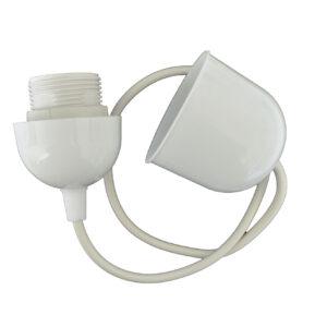 REV Kabelpendel Schnurpendel für Lampenschirm mit E27 Fassung , weiß