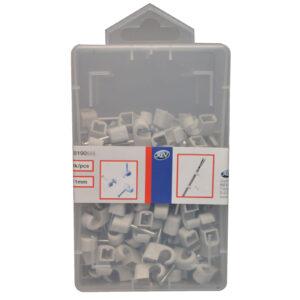 REV Iso Nagelschellen kabelschellen 7-11 mm, grau, 125 Stück