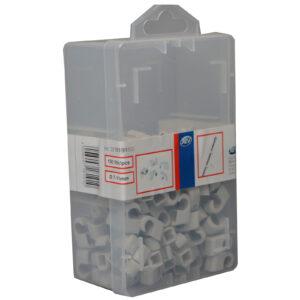 REV Iso Nagelschellen 7-11 mm, grau, 150 Stück