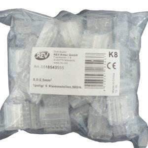 REV Ritter Steckklemmen - Dosenklemmen 0,5 - 2,5 mm², 50Stück 5 Klemmstellen