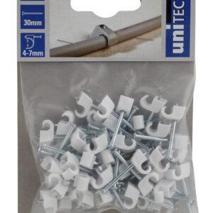Unitec Nagelschellen 4 -7 mm weiß 50 Stück