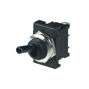 REV Einbau Kippschalter in schwarz 1polig 6A ~250V 16,6 x 23,9 mm M12 x 0,75 mm