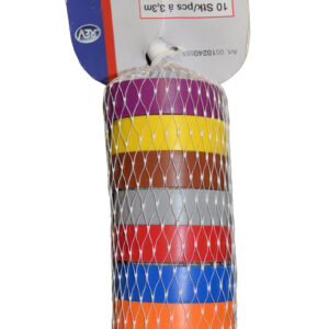REV Isolierband, 10 Stück, je 3,3 m farbig sortiert