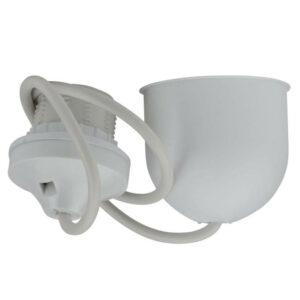 Unitec Kabelpendel Schnurpendel für Lampenschirm mit E27 Fassung , weiß