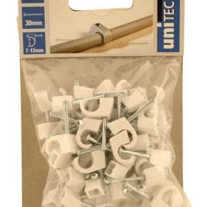 Unitec Nagelschellen 7 - 12 mm weiß 50 Stück