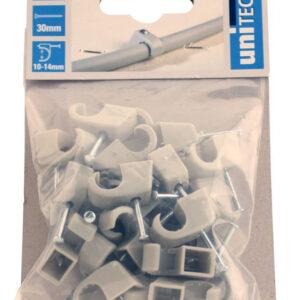 Unitec Nagelschellen 10 - 14 mm grau 25 Stück
