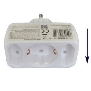 REV Steckdosen Adapter Mehrfachadapter - Übergangsstecker, 1- + 2-fach, weiß