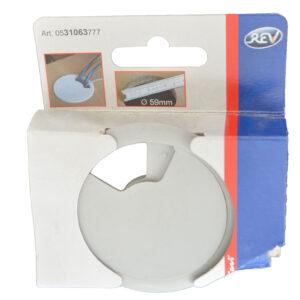 REV Kabeldurchlassdose Kabeldurchführung Schreibtisch Kunststoff 60 mm grau