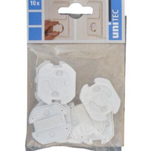 Unitec Kindersicherung ,Steckdosen-Kinderschutz, selbstklebend, 10 Stück , weiß