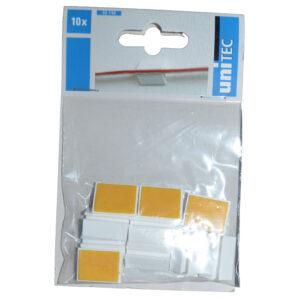 Unitec Kabelhalter selbstklebend max. 5 mm , weiß , 10 Stück