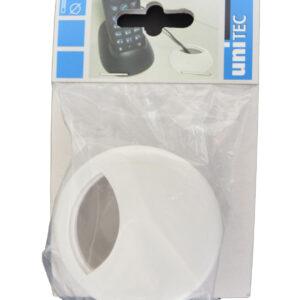 Unitec Kabeldurchführung Schreibtisch Kunststoff 67 mm weiß