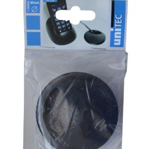 Unitec Kabeldurchführung Schreibtisch Kunststoff 67 mm schwarz