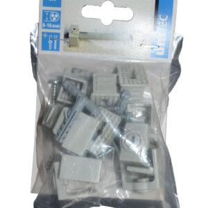Unitec Greif Schellen 6-16 mm, Mit Befestigungsdübel: 6 x 18 mm ( 6 Stück )