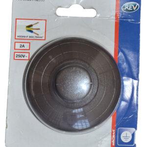 REV Fußtretschalter Ausschalter mit Zugentlastung 1 polig 2A braun