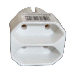 REV Euro Adapter Übergangsstecker 2-fach, weiß für den Anschluss von 2 Endgeräten mit Eurostecker an einer SchutzkontaktSteckdose, Nennspannung: 250 V~, Nennstrom: 2,5 A