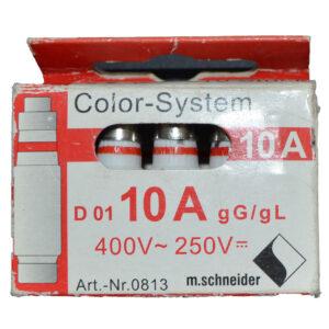 Color System Neozed Schmelzsicherung D 01, E 14, 10 A , 10 Stück