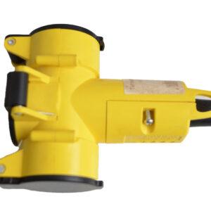 REV Schutzkontakt-Kupplung, 3-fach, IP 44 Mit Klappdeckel und Aufhängevorrichtung