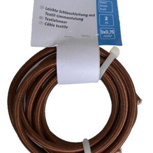 Kopp Textilleitung H03VV-F 3×0,75mm, 250V, Farbe: braun