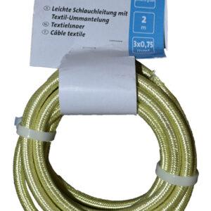 Kopp Textilleitung H03VV-F 3×0,75mm, 250V, Farbe: Pistazien grün
