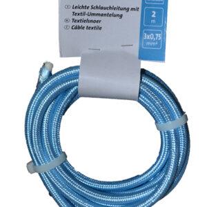 Kopp Textilleitung H03VV-F 3×0,75mm, 250V, Farbe: Hellblau