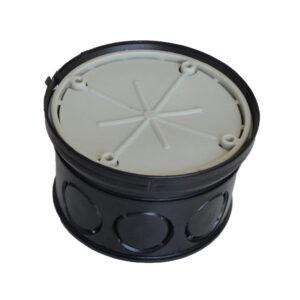 Kopp Abzweig-Gerätedose, Kombi-Abzweig-Gerätedose, mit Ring und Putzdeckel