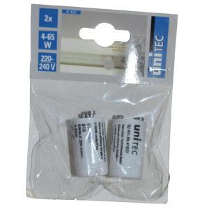 Unitec Leuchstofflampen-Starter 4-65 W , ( 2 Stück )