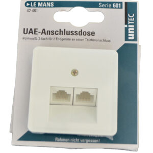 Unitec LE Mans UAE-Anschlussdose , alpinweiß