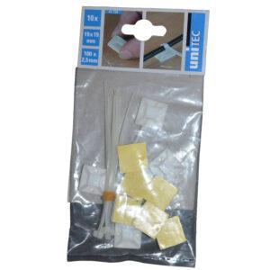 Unitec Befestigungssockel mit Kabelbinder , 10 Stück