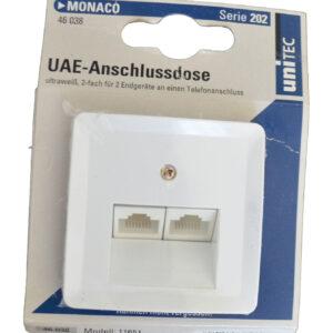 Unitec Serie 202 Monaco UAE-Anschlussdose , weiß