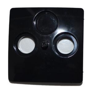 Kopp Paris Abdeckung für Antennendose , schwarz