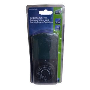 REV Zeitschaltuhr mit Dämmerungs- und Countdown-Funktion , schwarz-grün