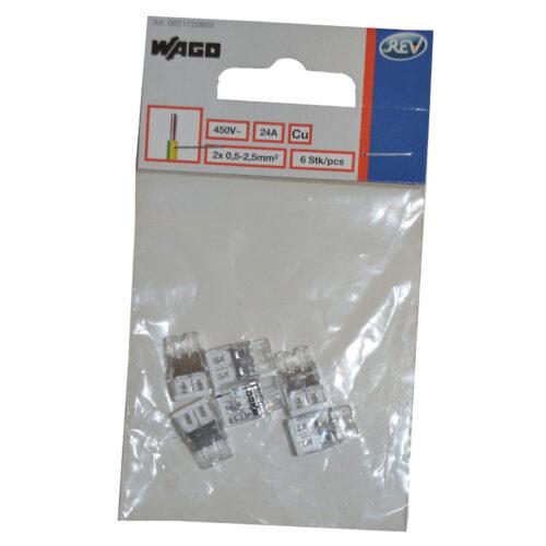 WAGO Compact Verbindungsklemme, 2x 0,5-2,5mm , 6 Stück