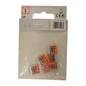 WAGO Compact Verbindungsklemme, 3x 0,5-2,5mm , 6 Stück