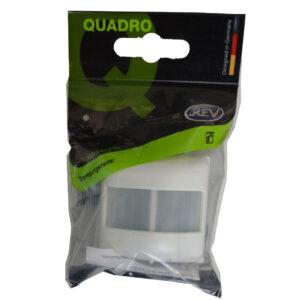 REV Standard Quadro Abdeckung für Bewegungsmelder weiß
