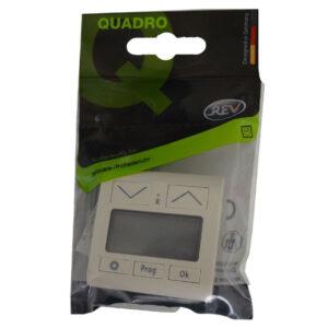 REV Standard Quadro Abdeckung für Jalousie-/Rollladenuhr cremeweiß