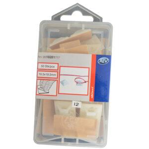 REV Befestigungssockel , Klebesockel für Kabelbinder 19 x 19 mm , 50 Stück