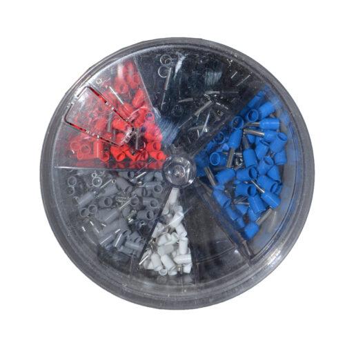 REV Ader Endhülsen Set mit Kunststoffkragen, farbig sortiert , 400 Stück