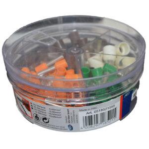 REV Ader Endhülsen Set mit Kunststoffkragen, farbig sortiert , 100 Stück