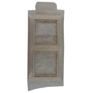 Legrand Valena 2-fach Rahmen, cremeweiß