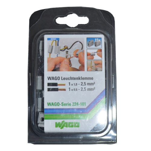 WAGO Leuchtenklemme 1-Leiter-Klemme, 15 Stück