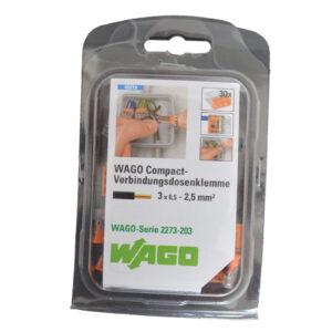 WAGO Dosenklemme COMPAKT 3x0,5-2,5mm², 30 Stück