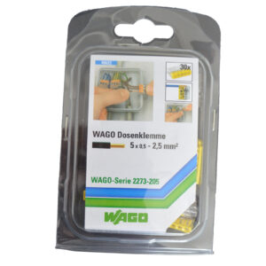 WAGO Dosenklemme COMPAKT 5x0,5-2,5mm², 30 Stück